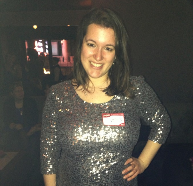 Letting my sparkle shine through - this dress was too much for NYE, but it was perfect for the swanky, celebratory Yelpie awards.