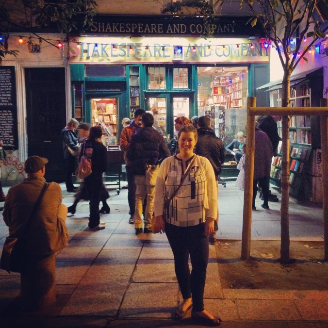 Shakespeare and Company - a tribute to the famous ex-pat bookstore beloved by Hemingway, Stein, and Fitzgerald